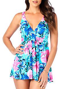 Shapesolver Petals Flyaway Swim Dress