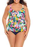 Plus Size Tropical Beauty One Piece Swimsuit