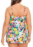 Plus Size Tropical Beauty Swim Dress