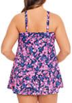Plus Size Garden Dance Triple Swim Dress