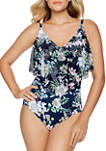 Natures Charm Flounce One Piece Swimsuit