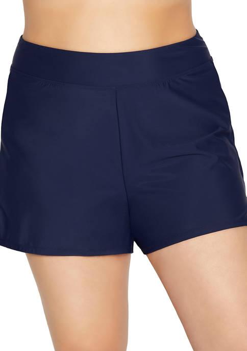 Shapesolver Plus Size Swim Shorts