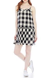 Drop Waist Checker Dress