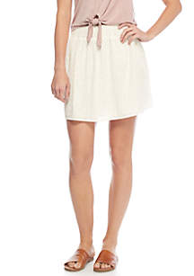 Smocked Waistband Skirt