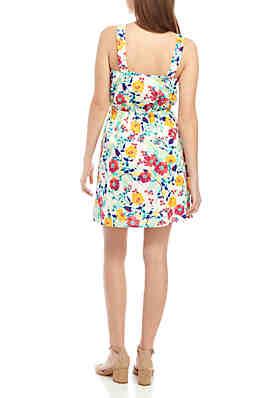 321bcc866a08e2 ... TRUE CRAFT Floral Print Button Front Dress