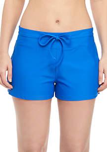 ZELOS Solid Swim Shorts