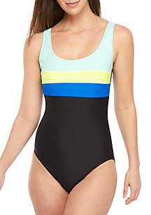 ZELOS Colorblock One-Piece Swimsuit