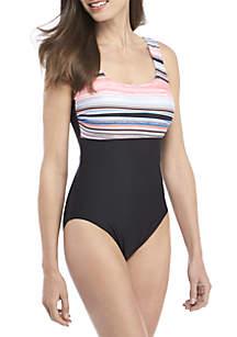 ZELOS Rolling Tide 1-Piece Swimsuit