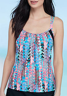 be inspired® Ups and Downs Layered Tankini Swim Top