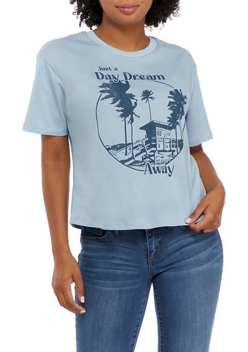 Juniors Short Sleeve Skimmer Daydream Graphic T-Shirt