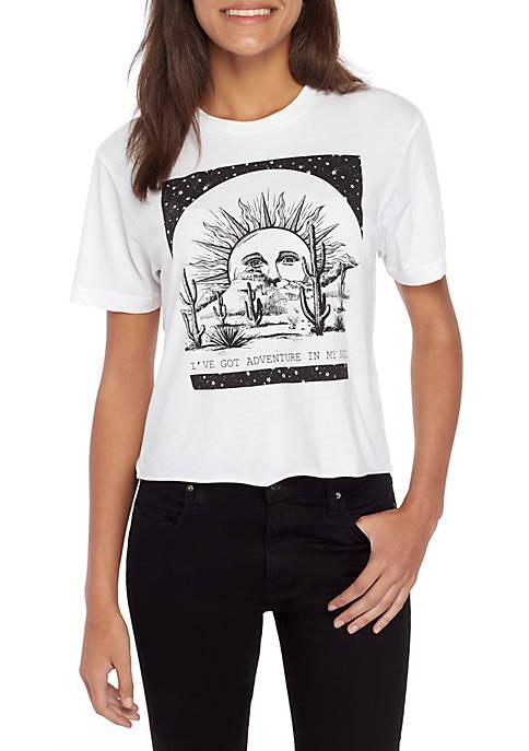 Short Sleeve Burnout Cactus and Sun Skimmer