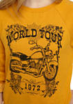 Juniors Long Sleeve Fleece Motorcycle Graphic Pullover