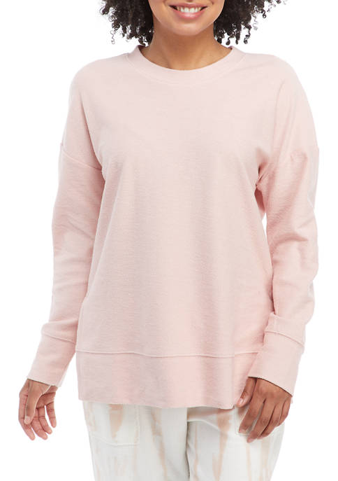 Juniors Reverse French Terry Pullover