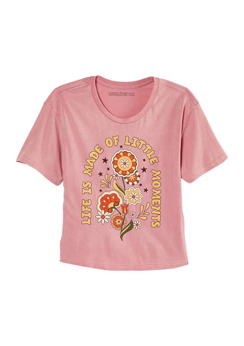 Juniors Little Moments Washed Graphic T-Shirt