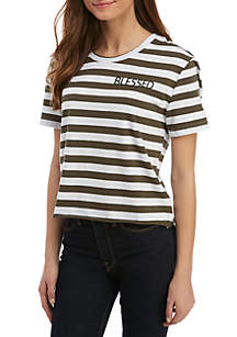 Short Sleeve Cropped Graphic Tee