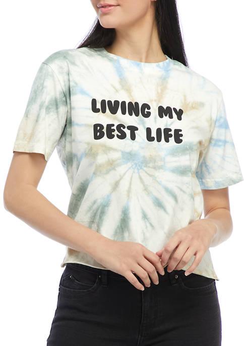 Rebellious One Juniors Short Sleeve Tie Dye Graphic