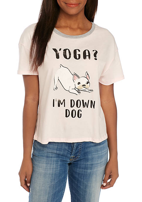 Pretty Rebellious Boxy Yoga Im Down Dog Tee