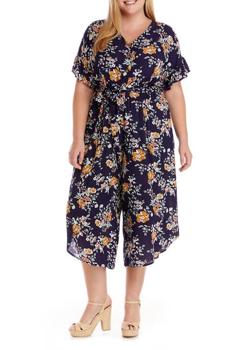 Lily White Plus Size Crepe Jumpsuit
