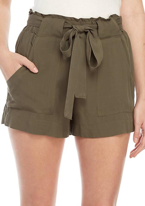 Indigo Rein Paperbag Waist Challis Shorts