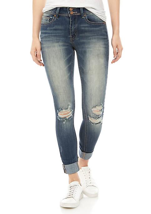 Indigo Rein Repreve® Roll Cuff Skinny Jeans