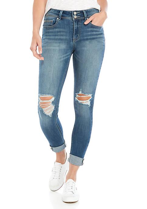 Indigo Rein Repreve Roll Cuff Skinny Jeans