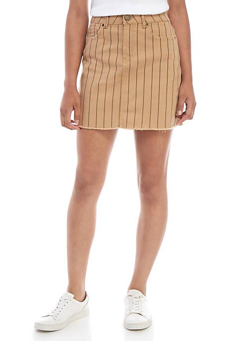 Indigo Rein Fray Hem Mini Skirt