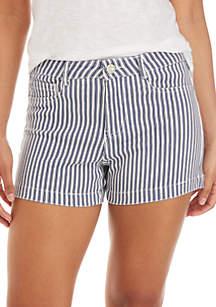 Indigo Rein High Rise Retro Stripe Shorts
