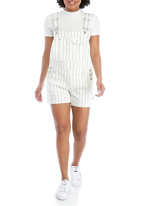 Striped Shortalls