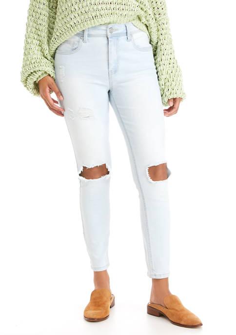 Indigo Rein High Rise Single Button Jeans