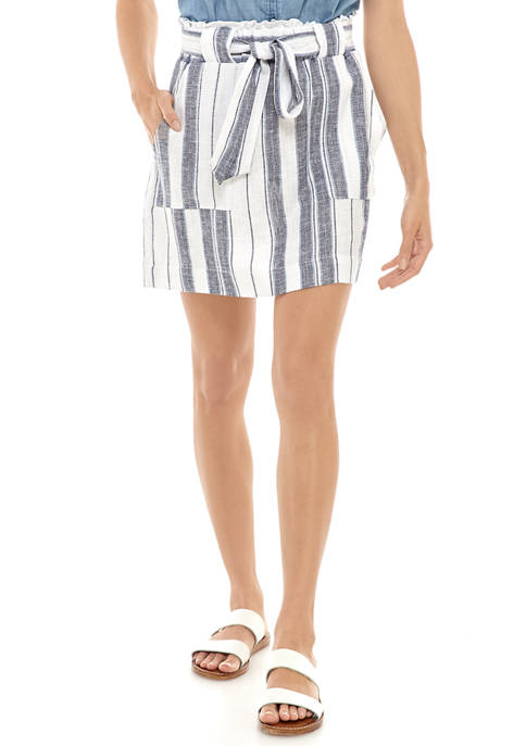 Indigo Rein Juniors Linen Stripe Skirt