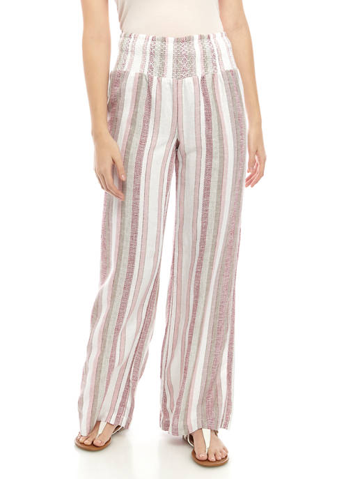 Indigo Rein Juniors Smocked Waist Linen Pants