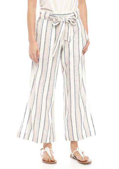 Indigo Rein Juniors Paper Bag Linen Pants