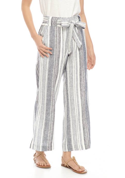 Indigo Rein Juniors Paper Bag Linen Pants