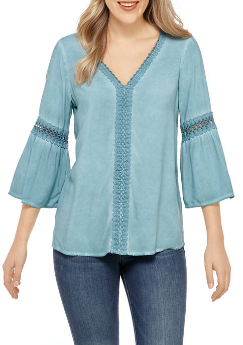 Womens Oil Wash Blouse