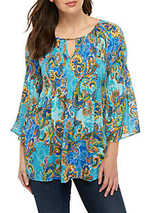 Spense 3/4 Sleeve Smock Top