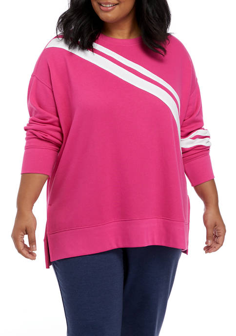 Crown & Ivy™ Plus Size Long Sleeve Sweeper