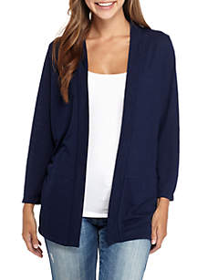 Long Sleeve Hooded Drape Cardigan