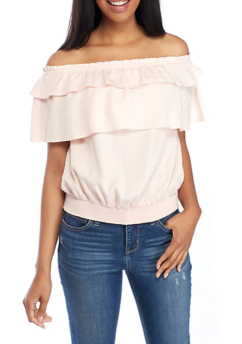 Crown & Ivy™ Smocked Off-The-Shoulder Top