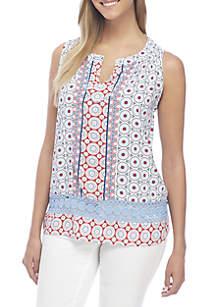 Crochet Trim Peasant Top