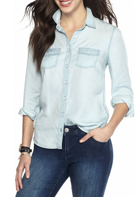 Crown & Ivy™ Chambray Shirt