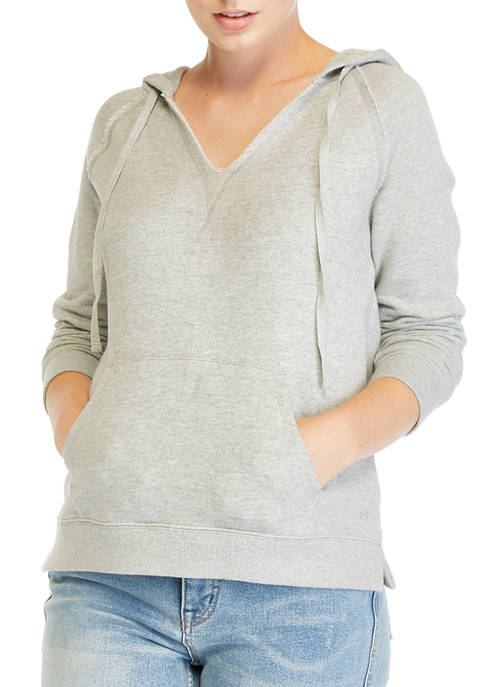 Crown & Ivy™ Womens V-Neck Long Sleeve French