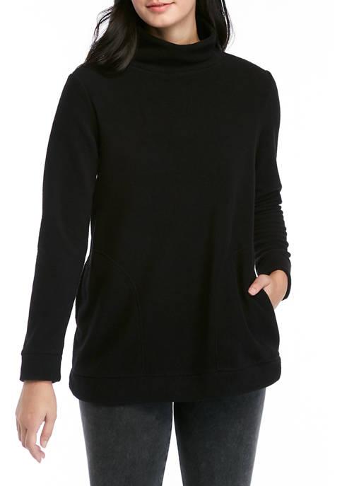 Crown & Ivy™ Womens Long Sleeve Mock Neck