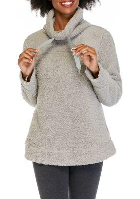 Crown Ivy Womens Long Sleeve Cowl Neck Sweatshirt
