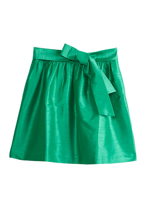 Womens Skirt with Bow Accent