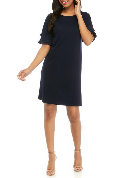 Crown & Ivy™ Womens Drop Shoulder Sleeve Ruffle