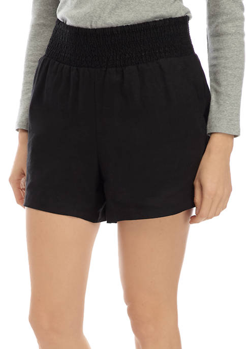 Crown & Ivy™ Womens Smocked Soft Shorts