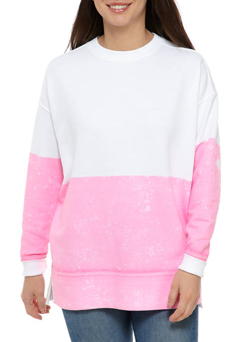 Womens Long Sleeve Oversized Sweeper Pullover