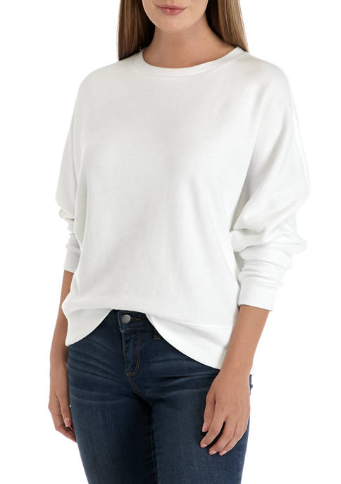 Crown & Ivy™ Womens Long Sleeve Dolman Sweatshirt