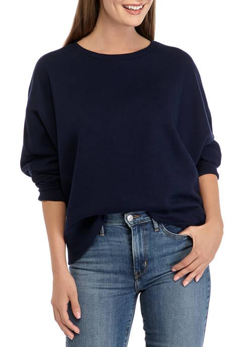 Crown & Ivy™ Womens Long Sleeve Dolman Sweatshirt