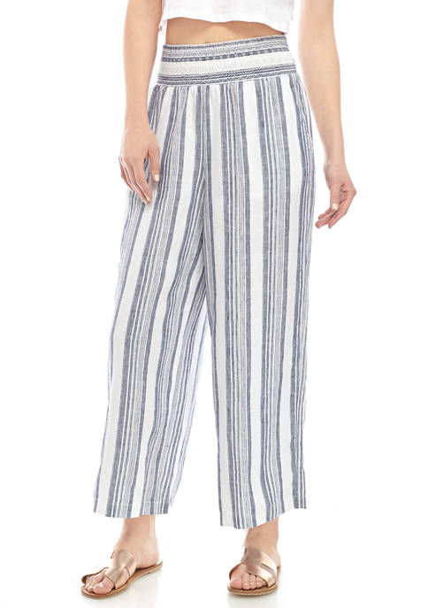Womens Smocked Yarn Dye Soft Shorts